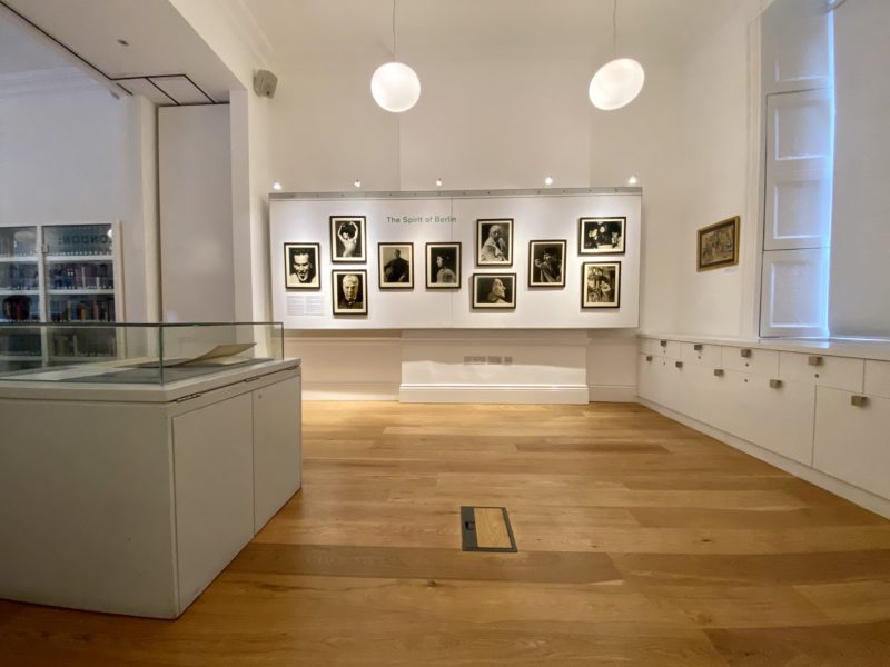 Snapshot of the Library's 'Berlin/London: The Lost Photographs of Gerty Simon' exhibition.