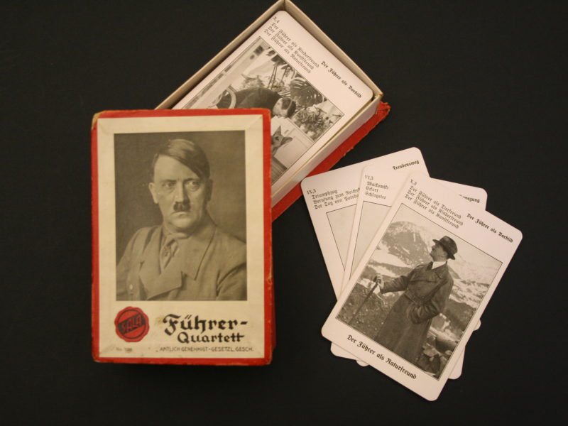 Cards featuring prominent members of the Nazi party.