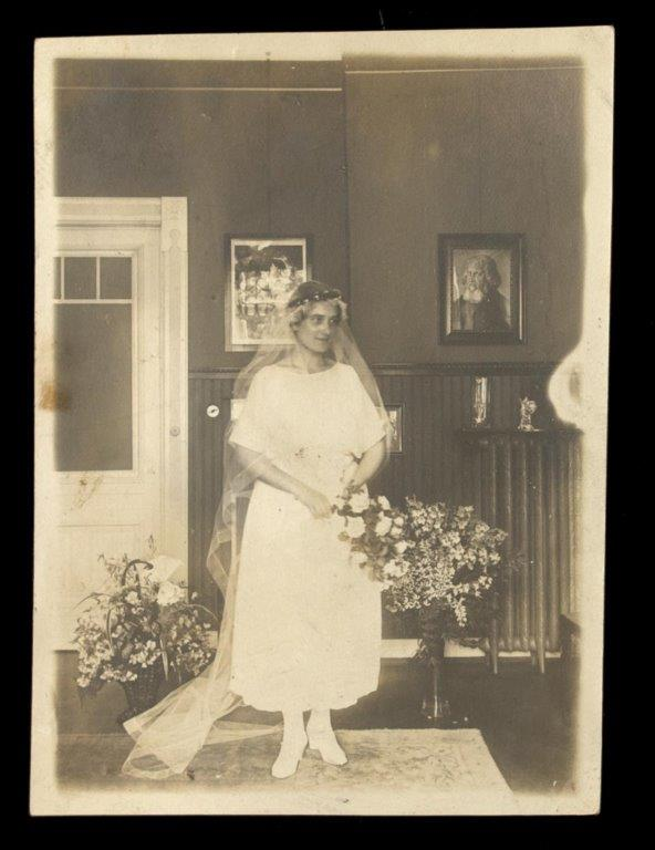 Dr. Margarethe Wiener on her wedding day in 1921. Wiener Holocaust Library Collections, courtesy of the Wiener Family, 2019/36/1/5/5.