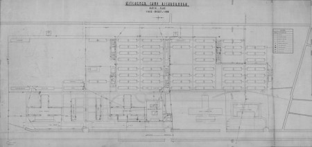 Block plan of the Kitchener Camp, 1939.