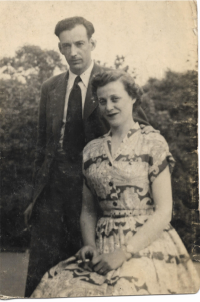 Harold Jackson and his wife Helene Sternstein, taken shortly after their engagement, 1944. Courtesy of Allen Sternstein.