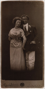 Image of Alma Karbach and Henry Evandale Roberts, c. 1913.