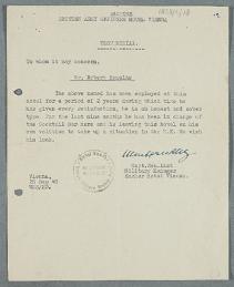 Image of post-war testimonial