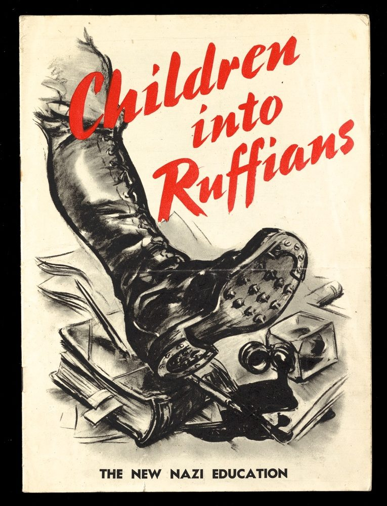 Children into ruffians book cover featuring Nazi jackboot