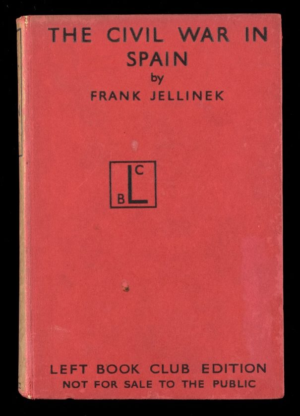 Plain red book cover with title - The Civil War in Spain - in black