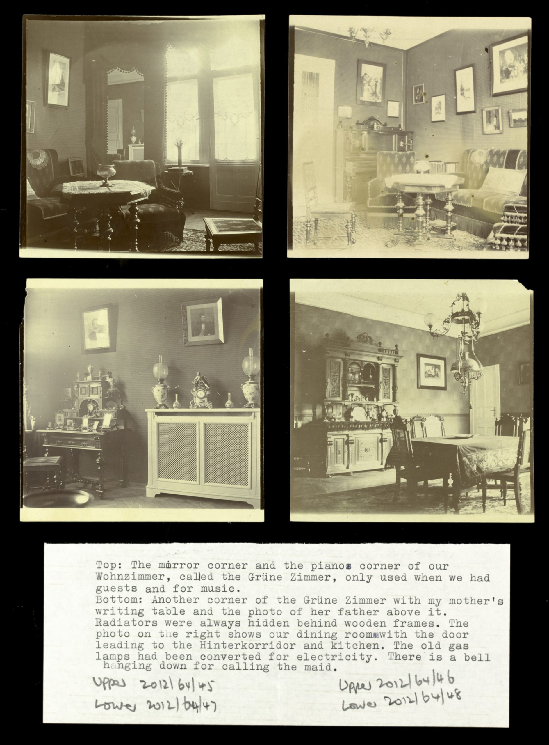 Images showing the interior of the Liebermann family home