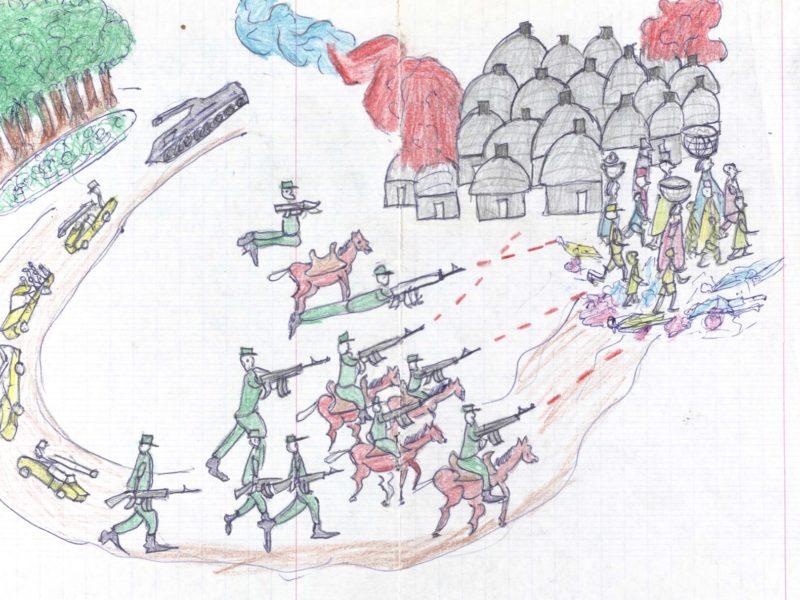 1865 - Waging peace: Darfur children's drawings