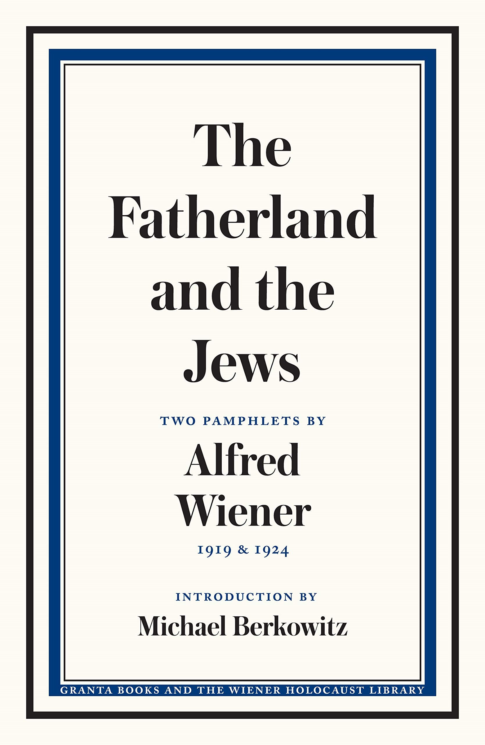 Cover page for Fatherland and the Jews
