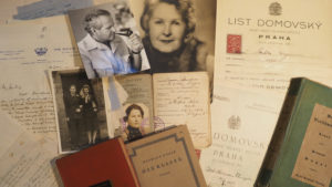 Collage of images relating to Vicky Unwin's father