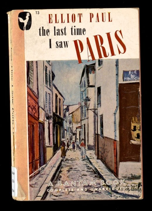 Book cover of Elliot Paul's The last time I saw Paris