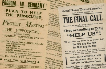 A collection of pamphlets calling for attention and help for Jewish families