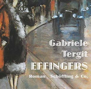 Cover of Gabriele Tergit's 'Effingers' shows 1920s street scene