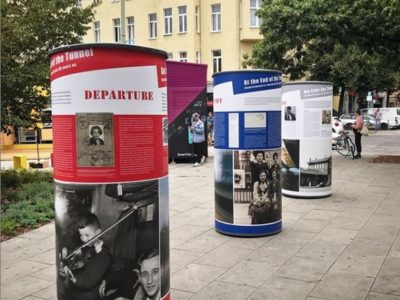 German-British open-air exhibition outside Charlottenburg Train Station, Berlin