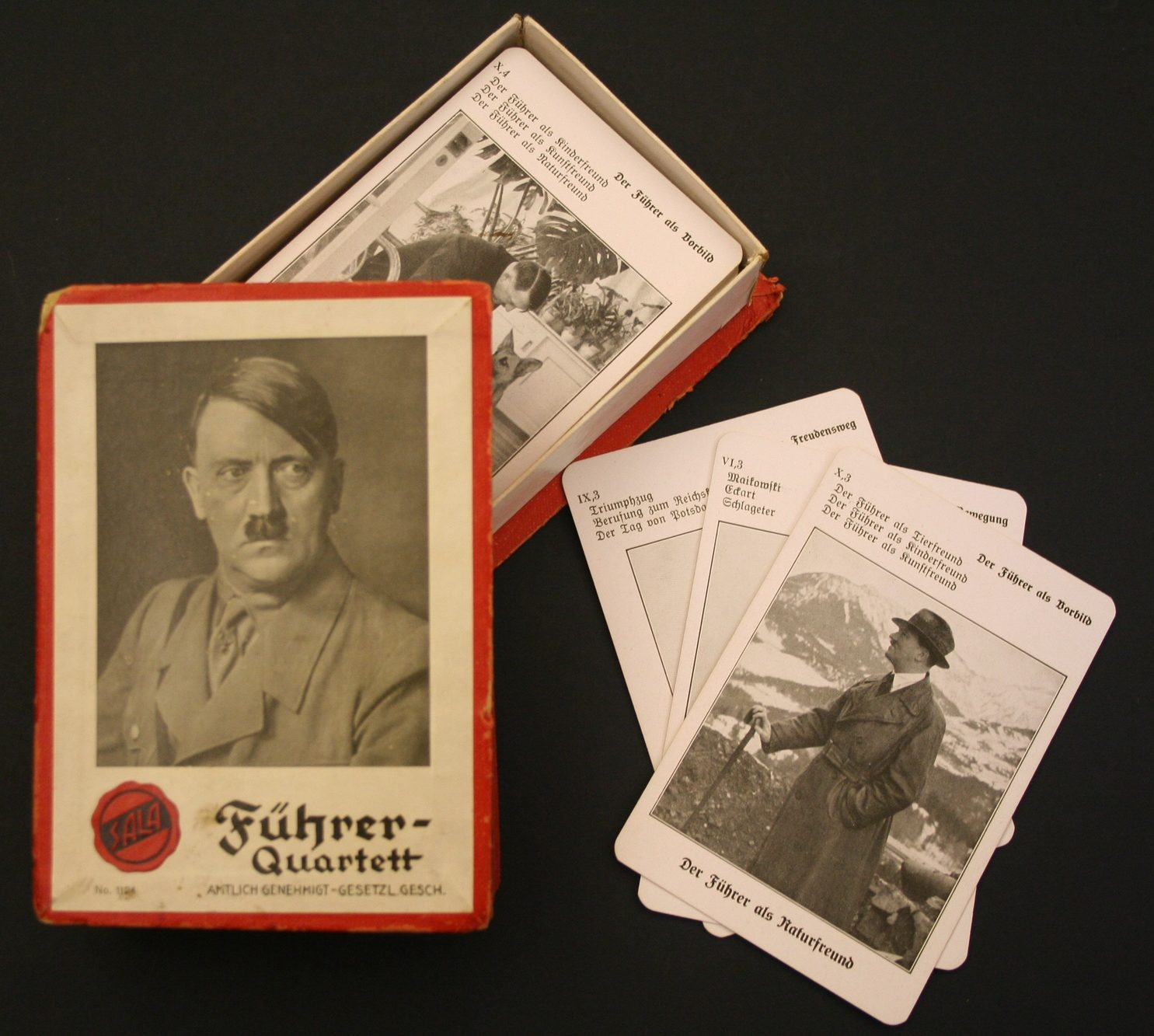Führer Quartett Spiel: card game featuring different members of the Nazi party