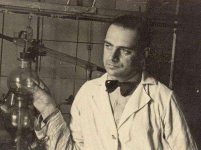 Tadeusz Pankiewicz in his Pharmacy around 1941.