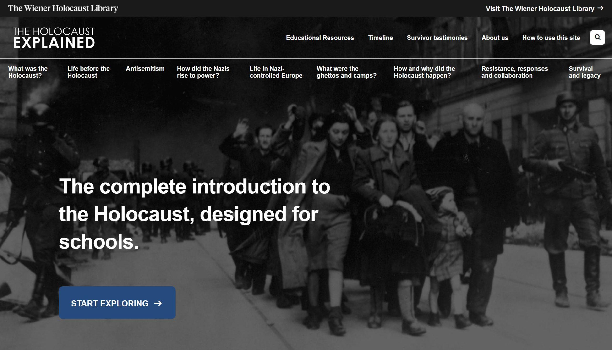 Screenshot of The Holocaust Explained