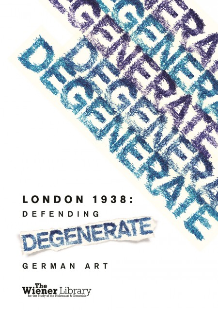 Poster with the word degenerate over and over