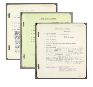Survivor accounts from the Library's digital database, Te