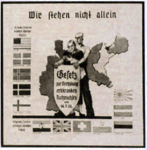 Black and white german poster