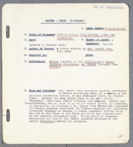 Photocopy of an eyewitness account