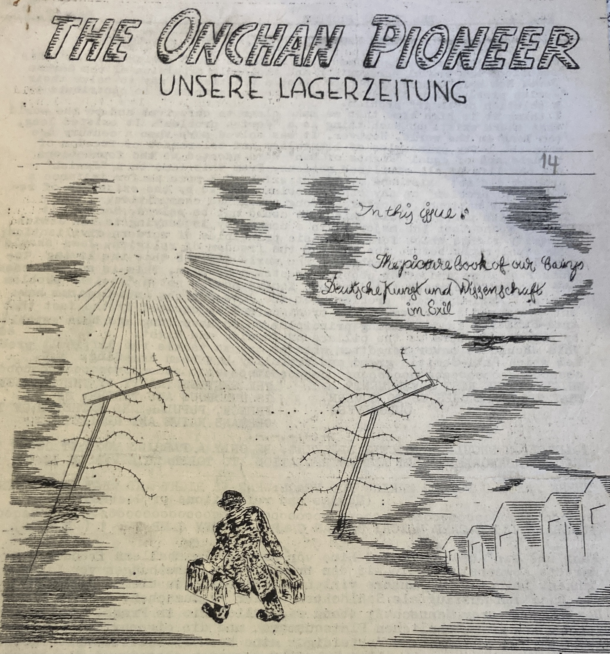 hand drawn cover image of the 1940 journal