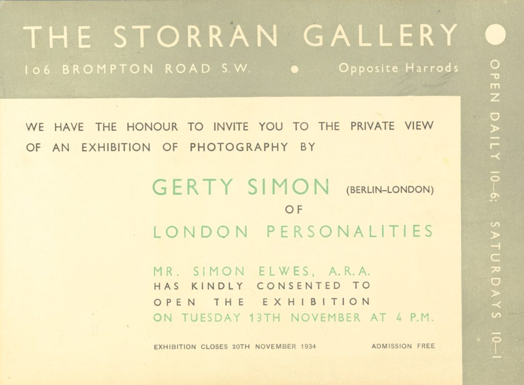 Invitation to a photographic exhibition
