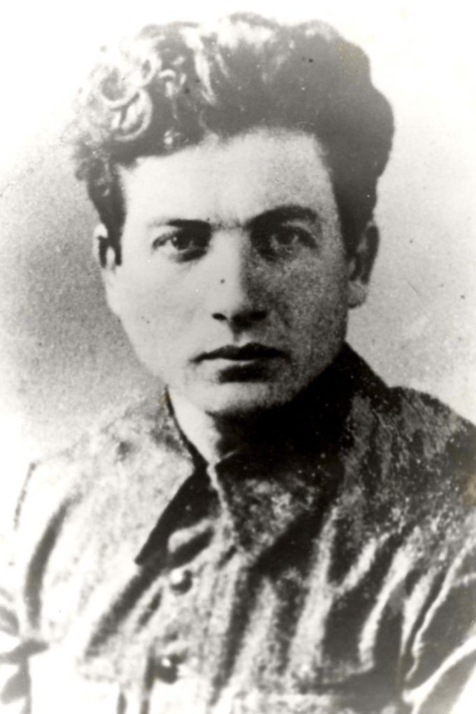 A black and white photograph of a resistance fighter