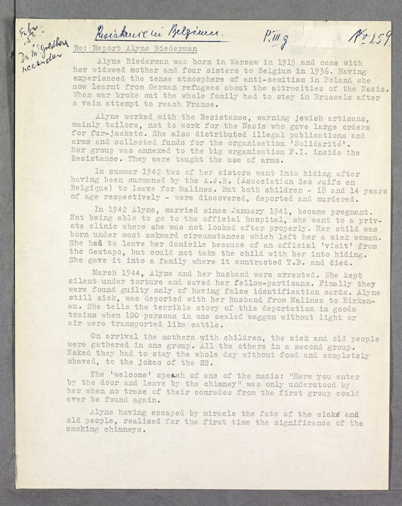 An eyewitness account by a JEwish resistance fighter