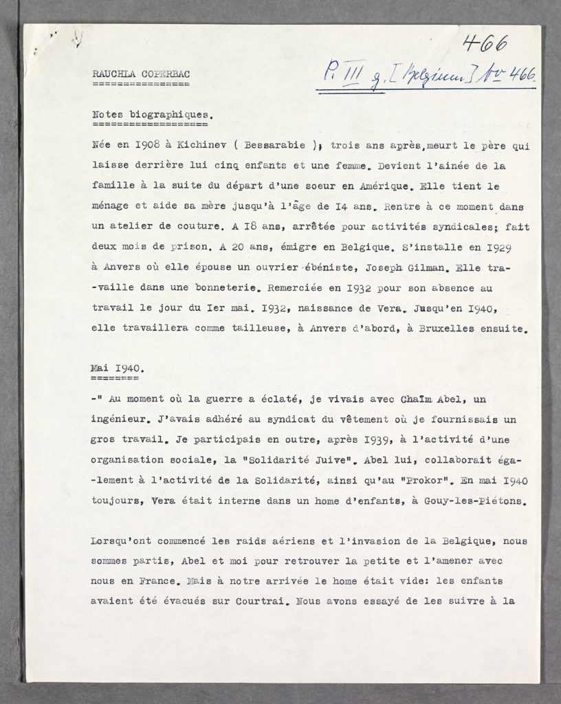 An eyewitness report given by a Jewish resistance fighter