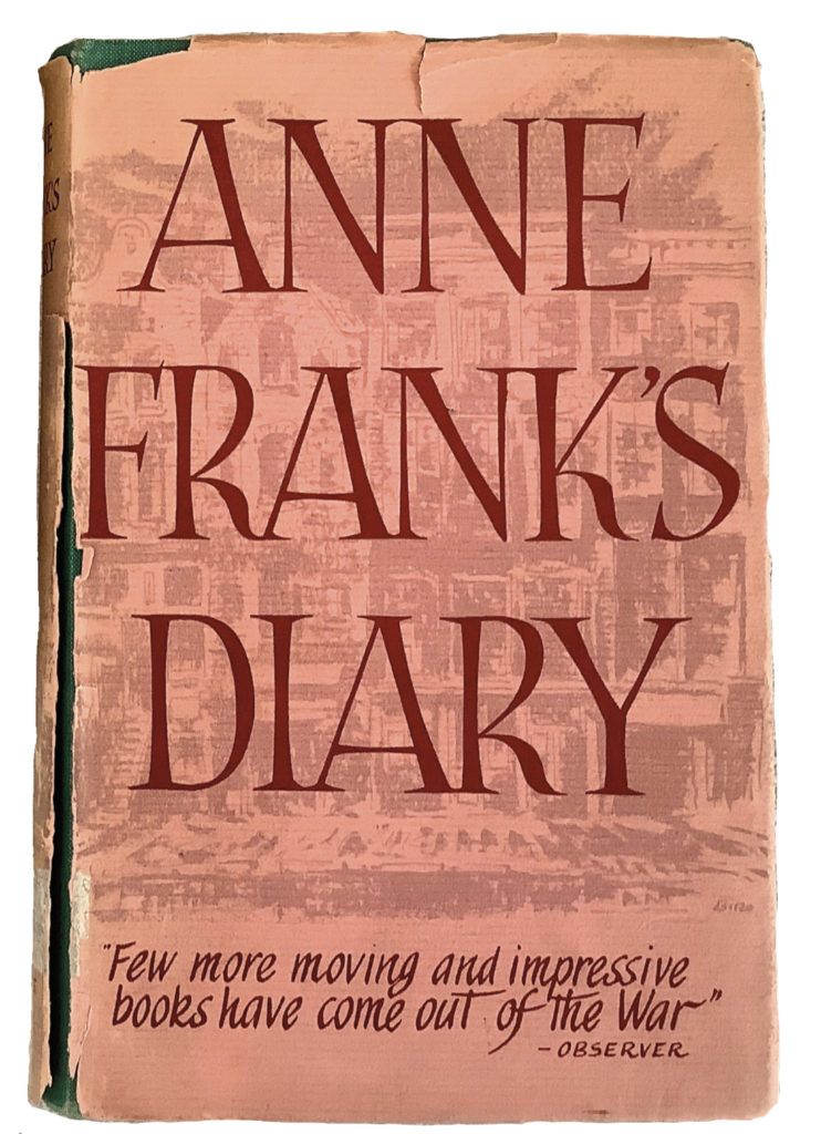 Front cover of Anne Frank's diary