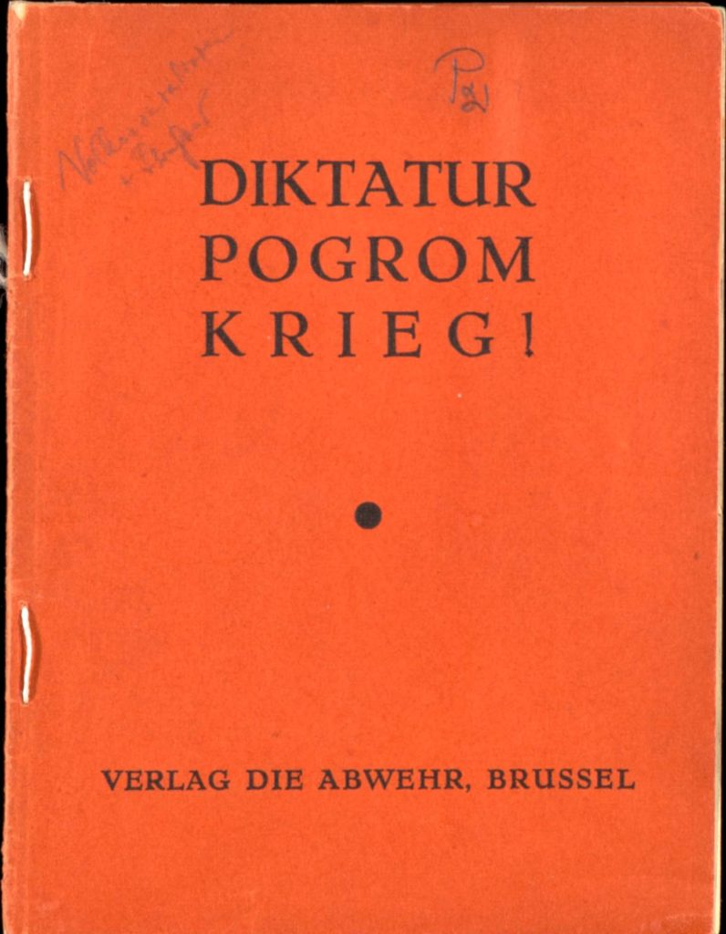 An old pamphlet in German published in 1939