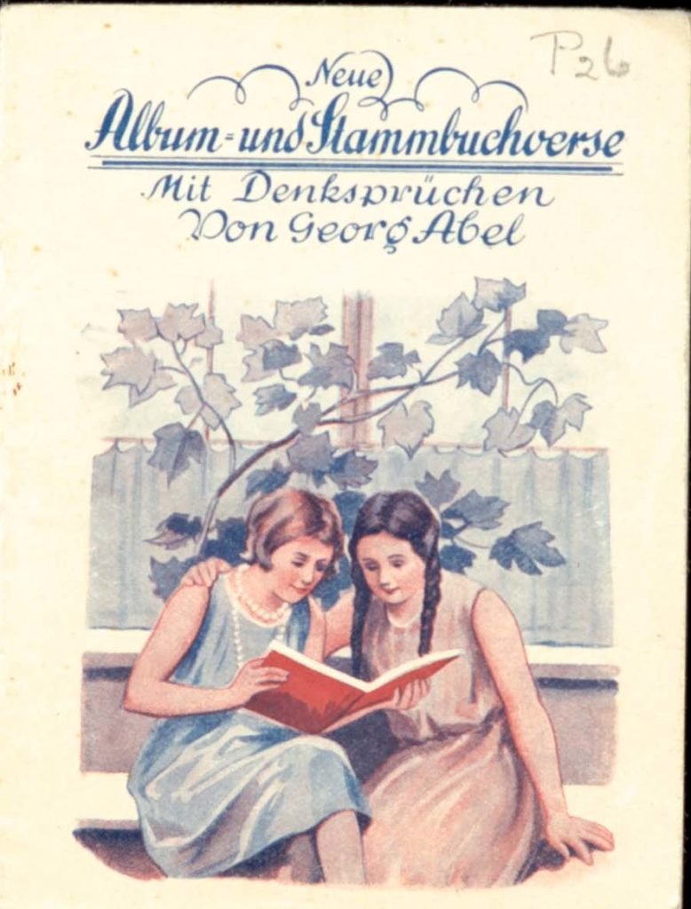 A 1935 copy of Georg Abel's New Album and Versus