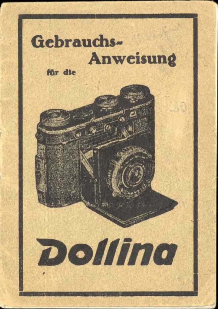 An old fashioned camera instructions